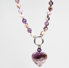 Wholesale Fashion Amethyst Necklace with Amethyst Heart Shape Pendant