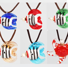 6 Pcs Tropical Fish Perfume Bottle Pendant Necklaces ( Random Color and Shape )