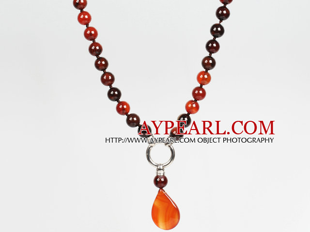 Visional Agate Stone Pendant Choker Necklace