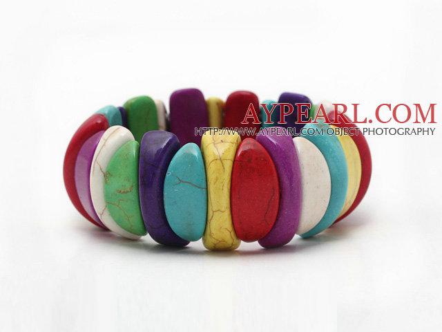Multi Color Turquoise Elastic Bracelet