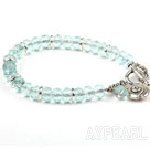 Klassisk design Fasett Blue Crystal Stretch Bangle Armband