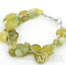 Wholesale South Korea Jade Bracelet with Silver Color Wire