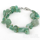 Wholesale Multi Strands Assorted Aventurine Bracelet with Silver Wire