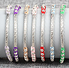 7 PCS Trendy Nickel Free Alloyed Tube Charm Multi Color Thread Hand-Knitted Bracelet (Random Color)