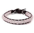 Blandade Fillet Square Form Multi Color Agate Stretch Bangle Armband