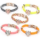 5 Pieces Fashion Style Leather Friendship Bracelet ( Random Color )