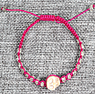 6 PCS Pupular Alloyed Accessory Hot Pink Thread Hand-Knitted Bracelet