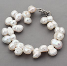 Single Strand Top Drilled Cucurbit Shape Freshwater Pearl Bracelet