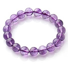 Wholesale 2014 Popular Style A Grade Natural Round 10mm Amethyst Elastic Bracelet
