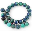 Belle 12 - 14mm Multi Color ronde Xingjiang Agate bracelet perlé