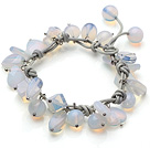 2014 Summer Design Opal Charm Leather Bracelet
