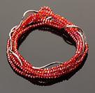 Summer Lovely Handmade Multi Strands Mini Red Crystal Beads Bracelet
