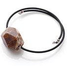 New Arrival Simple Style Irregualr Shape Agate with Elastic Leather Bracelet