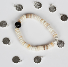 Wholesale 12 Pieces Constellatory Bracelets Shell and Tiger Eye Bracelet