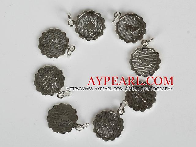 12 Pieces Constellatory Bracelets Shell and Tiger Eye Bracelet