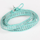 Discount 4mm Candy Jade Beads Four Times Wrap Bangle Gracelet