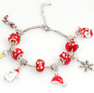 Red Charm Fashion Style Christams Bracelet avec chaîne extensible