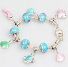 Wholesale Fashion Style Ocean Series Charm Bracelet with Shell and Fish Pendant