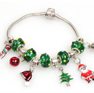 Wholesale Fashion Style Christmas Charm Bracelet with Christmas Tree and Santa Claus Pendant