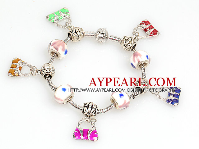 Fashion Style Charm Bracelet with Handbag Pendants