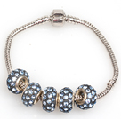 Wholesale Fashion Style Gray Colored Glaze Charm Bracelet