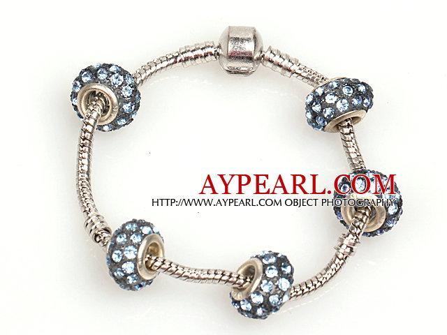 Fashion Style Gray Colored Glaze Charm Bracelet