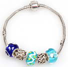 Fashion Style Blue Series Charm Bracelet couleur Glaze