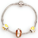 Simple and Style Mode couleur jaune Bracelet Charm Glaze