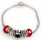Fashion Style Red Colored Charm Bracelet Glaze
