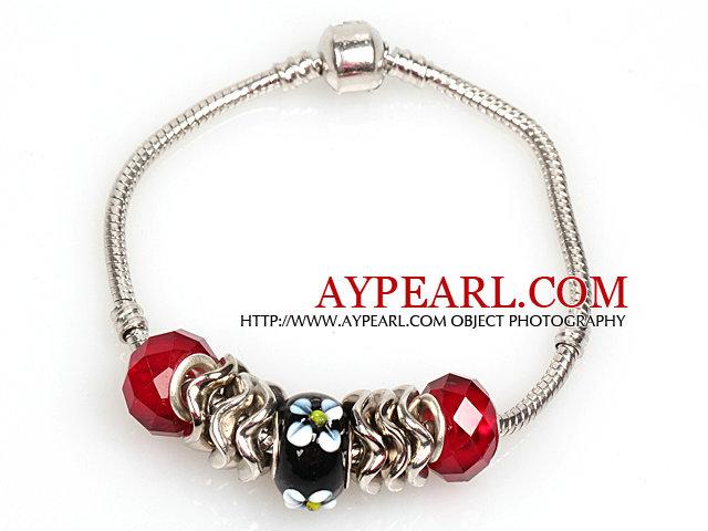 Fashion Style Red Colored Glaze Charm Bracelet