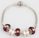 Fashion Style de couleur marron Bracelet Charm Glaze