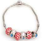 Fashion Style Red Colored Glaze Charm Bracelet Bijoux