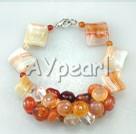 Wholesale pearl crystal agate bracelet