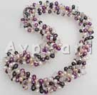 Wholesale pearl rock crystal necklace