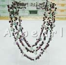 Wholesale Rainbow fluorite garnet necklace