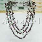 Wholesale Rainbow fluorite garnet necklace