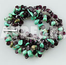 Wholesale natural turquoise garnet bracelets