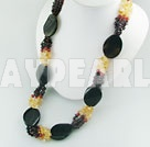 Wholesale garnet citrine agate necklace