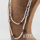 Wholesale pearl amethyst necklace