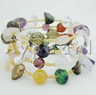 Wholesale seven colors crystal stone bracelets