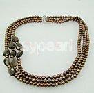 Wholesale pearl smoky quartz necklace
