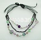 Wholesale Rainbow fluorite necklace