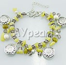 crystal olive jade bracelet