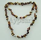 Silver Leaf Agate necklace