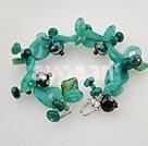 crysatl blå jade armband