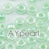 Glass seed beads, ceylon blue, 2.5mm round. Sold per pkg of 450 grams.
