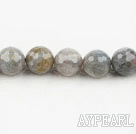 Flashing Stone beads,14mm round, faceted,Sold per 15.75-inch strands