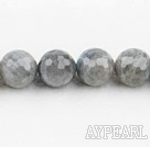 Flashing Stone beads,16mm round, faceted,Sold per 15.75-inch strands
