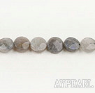 Flashing Stone beads,10mm flat oval, faceted,Sold per 15.75-inch strands