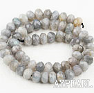 Flashing Stone beads,6*10mm round, faceted,Sold per 15.75-inch strands